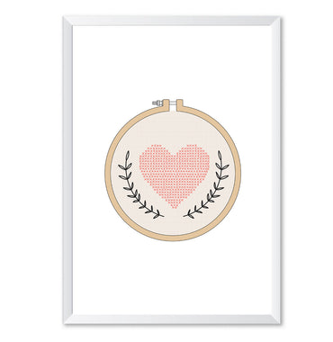Knitted Compact Mirror Poster Print