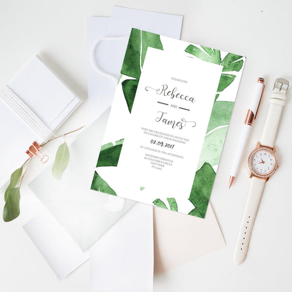 Leaves Wedding Invitation - Mode Prints