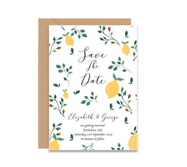 Lemon Tree Save The Dates Wedding Card-Wedding Stationary-Mode Prints