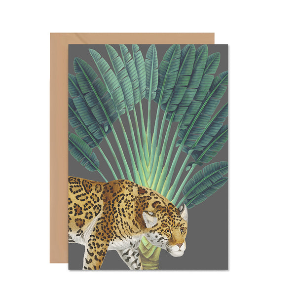 Leopard Tropical Greeting Card