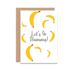 Let's Go Bananas! Greeting Card-Greeting Cards-Mode Prints