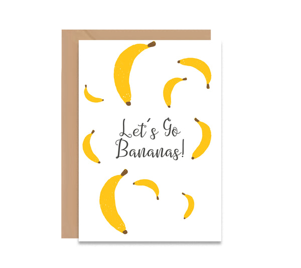 Let's Go Bananas! Greeting Card - Mode Prints