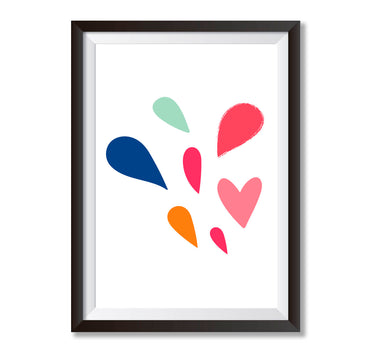 Love Hearts Poster Print-Print-Mode Prints