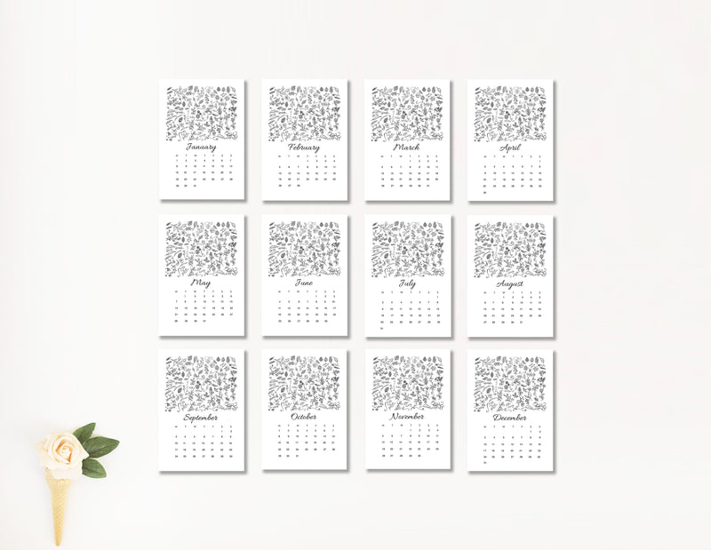 2019 Herb Garden Desk Calendar - Mode Prints