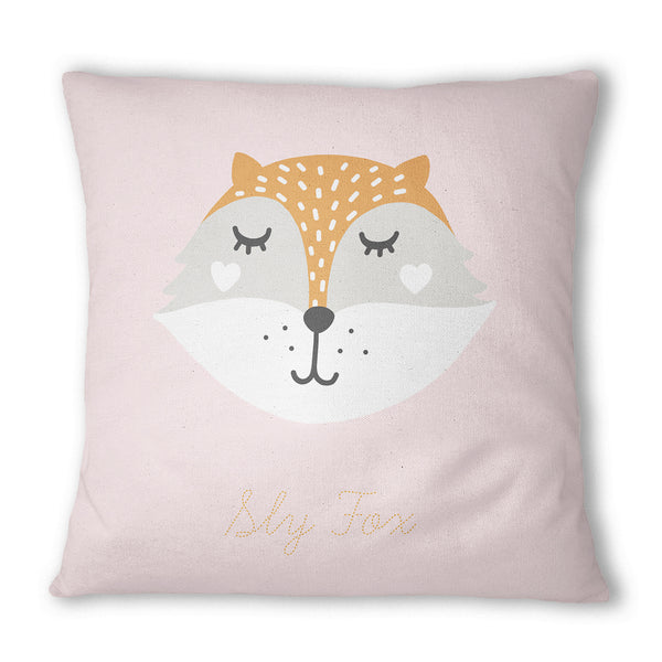 Sly Fox Pink Cushion - Mode Prints