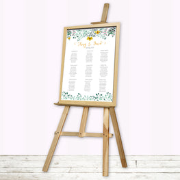 Spring Floral Wedding Table Plan