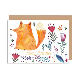 Merry Christmas Fox Greeting Card