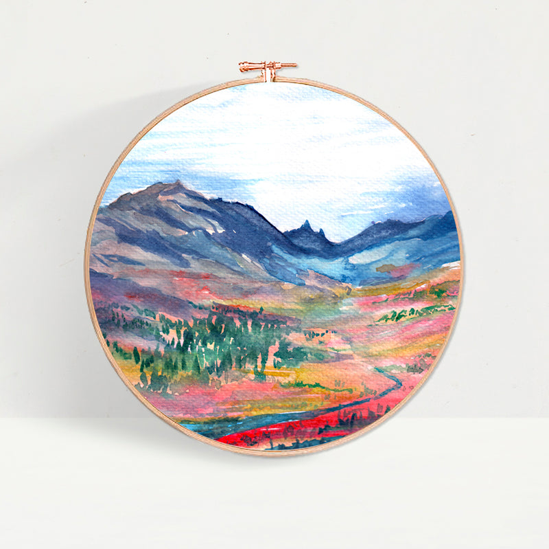 Watercolour Sunset Hoop