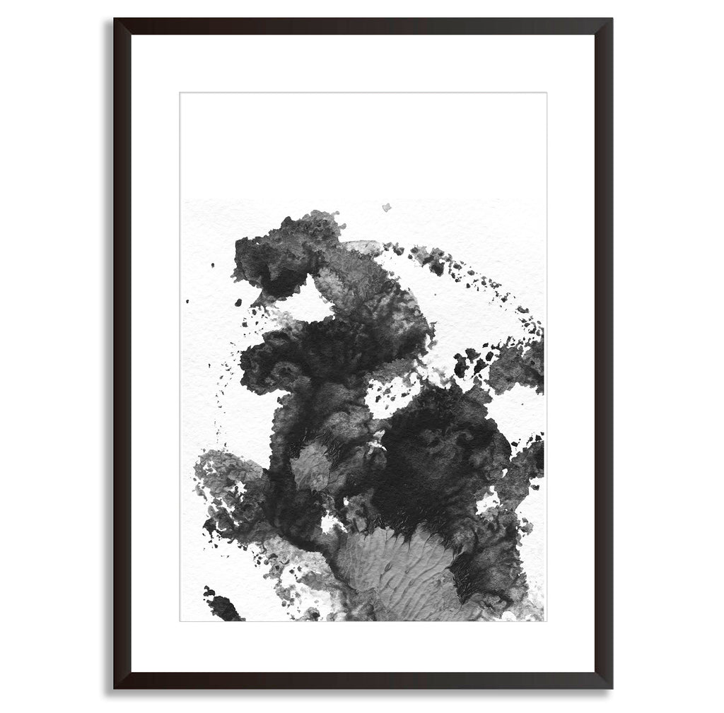 Watercolour brush monochrome wall art print mode prints