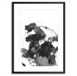 Watercolour Brush Monochrome Wall Art Print - Mode Prints