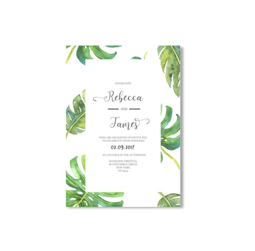 Monstera Wedding Invitation-Wedding Stationary-Mode Prints
