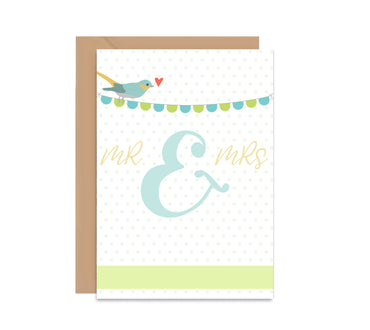 Mr & Mrs Wedding Greeting Card-Greeting Cards-Mode Prints