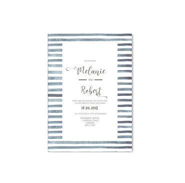 Navy Stripes Nautical Wedding Invitation-Wedding Stationary-Mode Prints