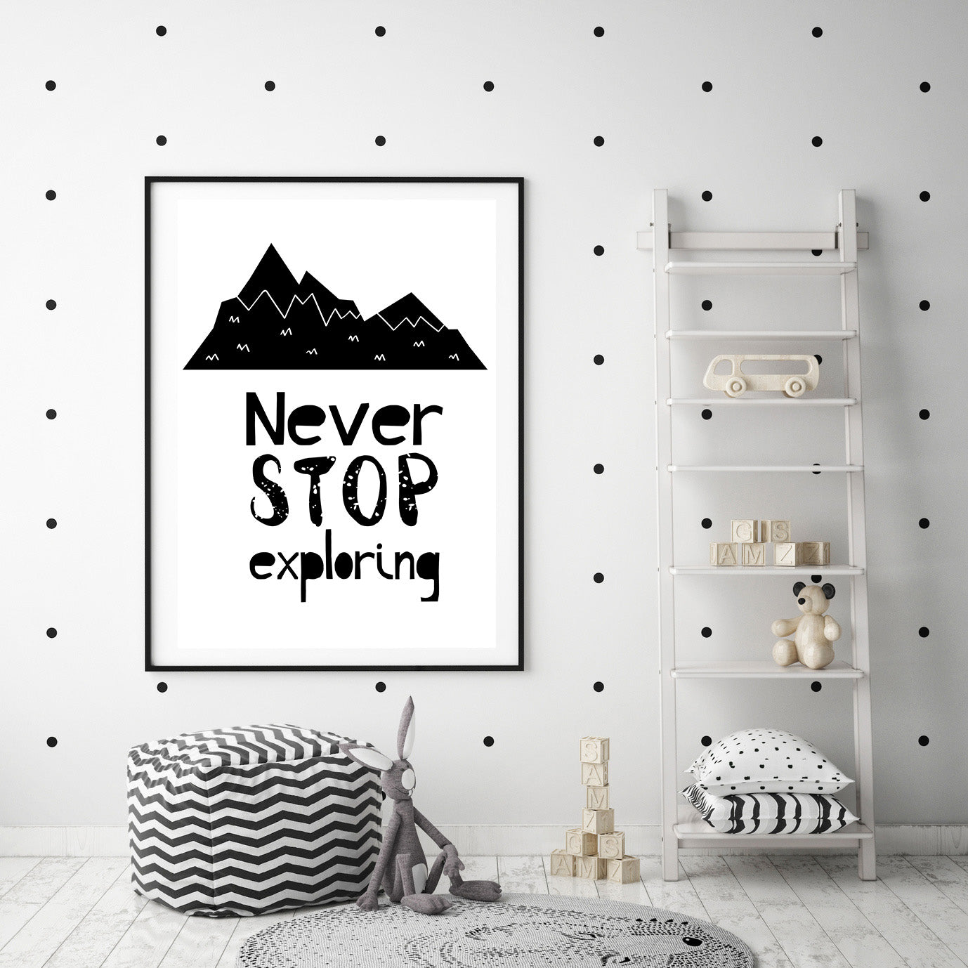 Never Stop Exploring Poster Print-Print-Mode Prints
