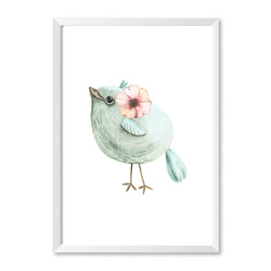 Nursery Green Bird Print - Mode Prints