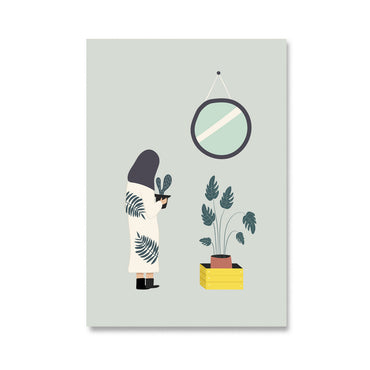 Plant Life Girl Cactus Notebook