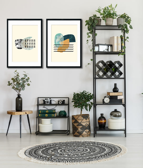 Organic Shapes Art Set Of Two Poster Prints - Mode Prints