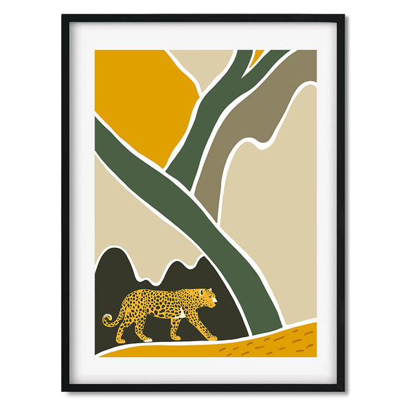 Leopard Tropical Wall Art Print