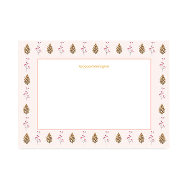 Personalised Autumn Pinecone Notepaper Set-Notepaper Sets-Mode Prints