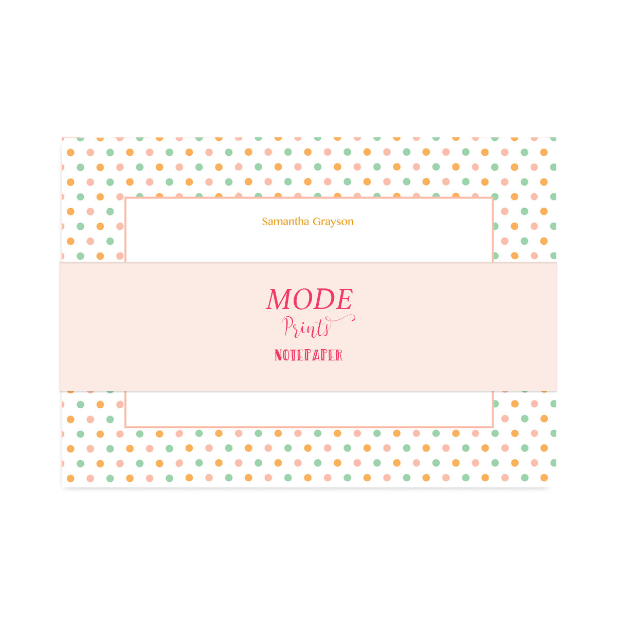Personalised Candy Polka Dot Notepaper Set-Notepaper Sets-Mode Prints