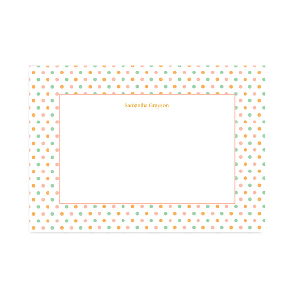 Personalised Candy Polka Dot Notepaper Set - Mode Prints