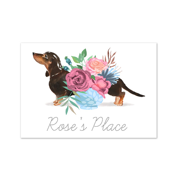 Personalised Dachshund Sausage Dog Art Print - Mode Prints