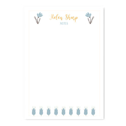 Personalised Duck Egg Floral Notepaper Set - Mode Prints