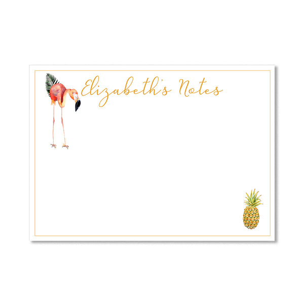 Personalised Flamingo Notepaper Set - Mode Prints