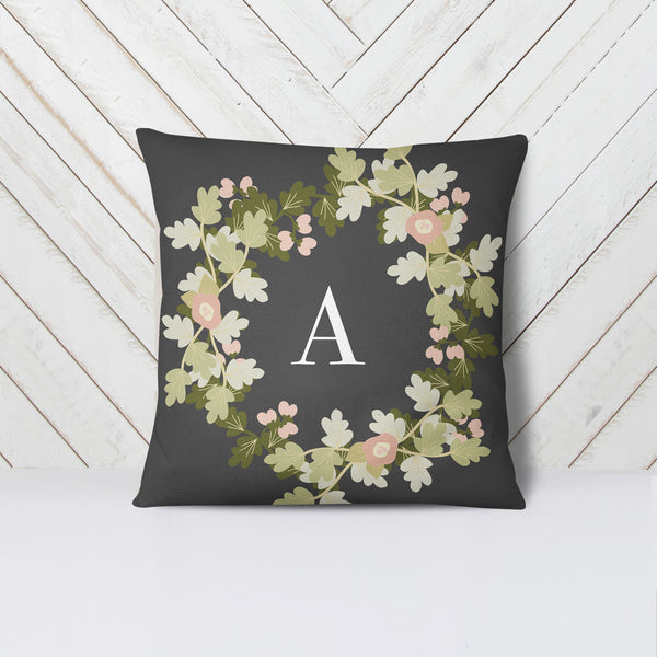 Personalised Floral Initial Cushion - Mode Prints