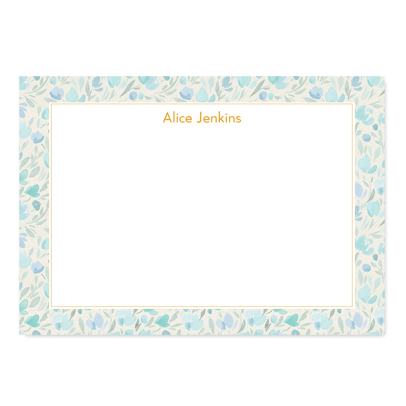 Floral Watercolour Notepaper Set - Mode Prints
