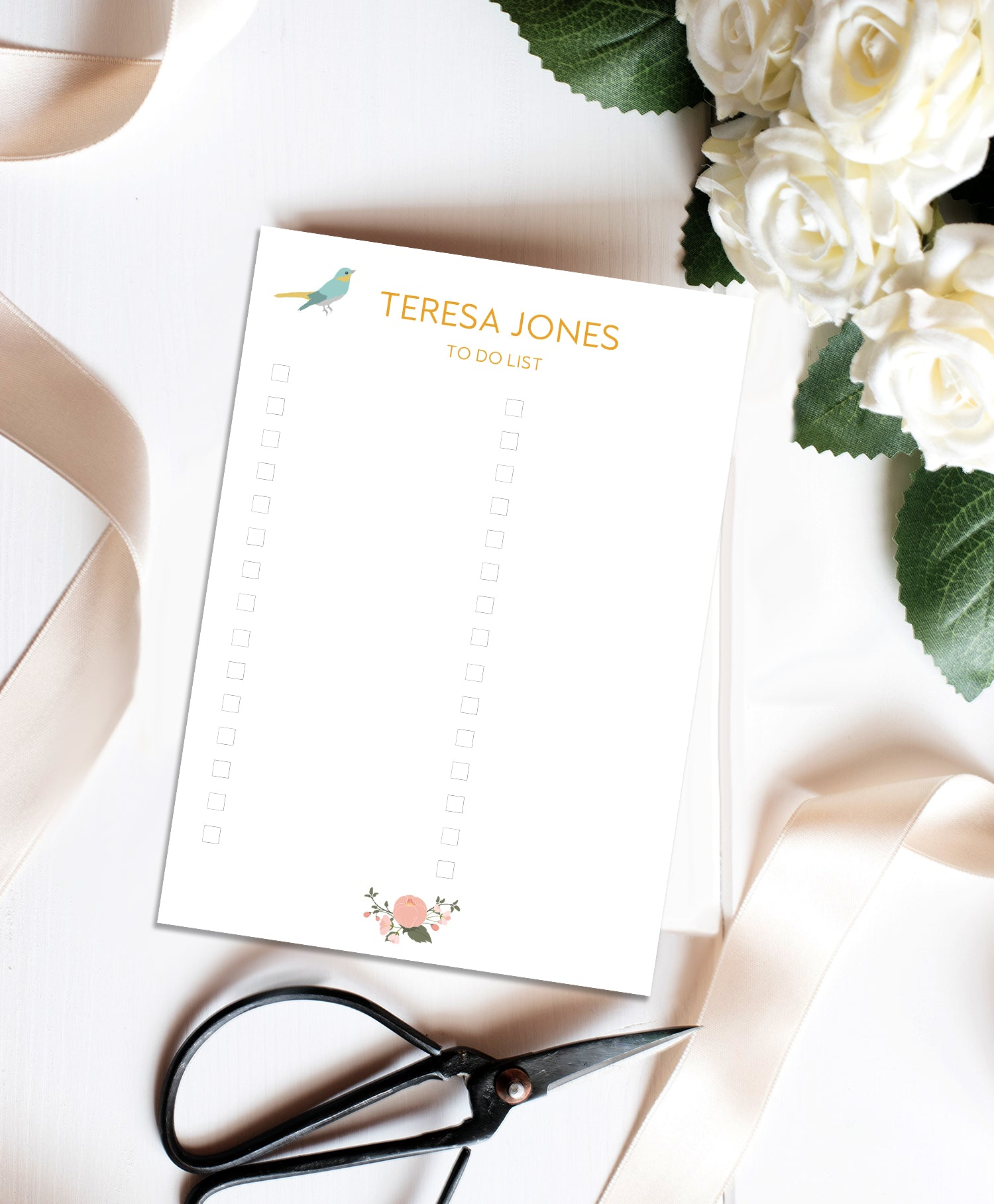 Personalised To Do List Notecards Set-To Do List-Mode Prints