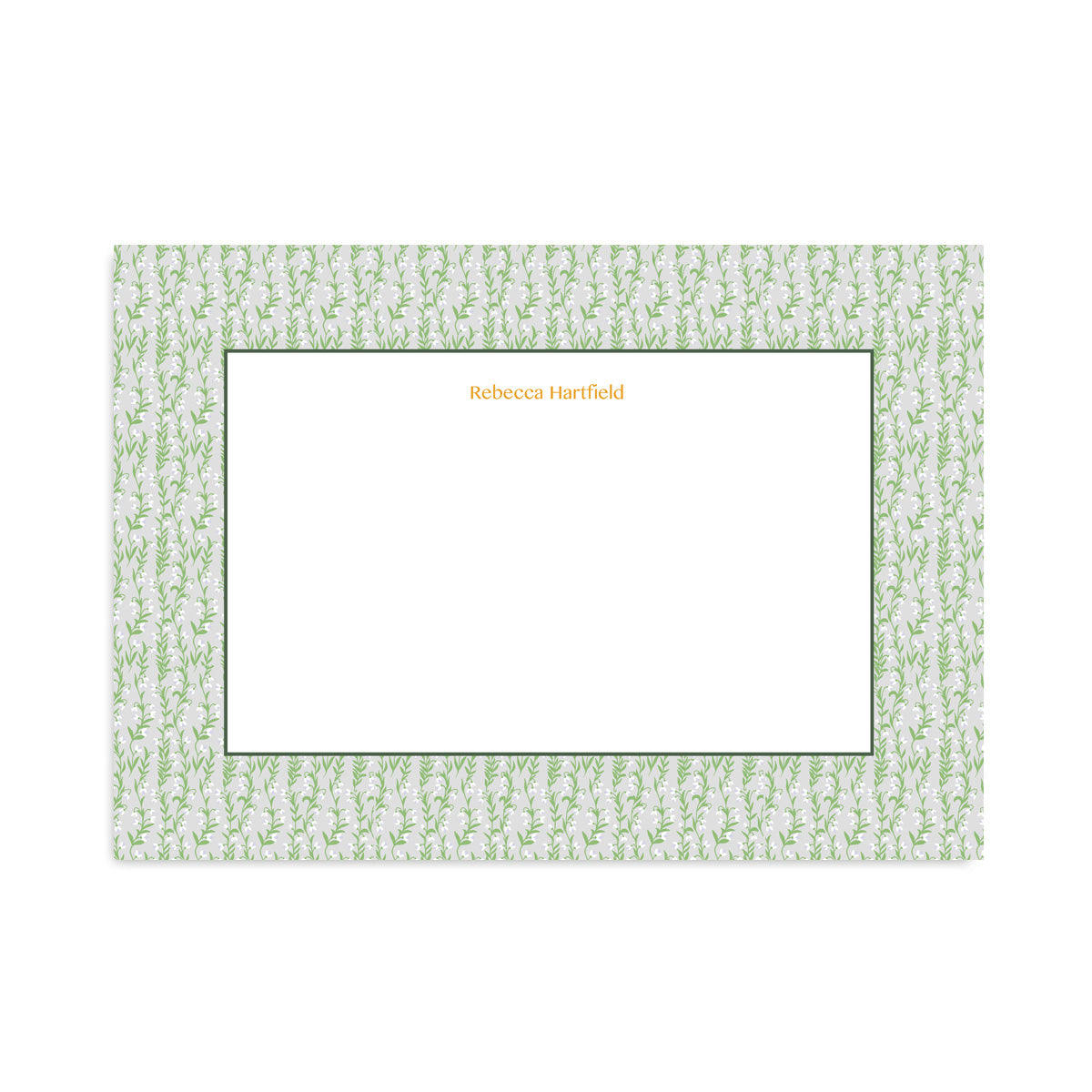 Personalised Grey Floral Meadow Notepaper Set-Notepaper Sets-Mode Prints