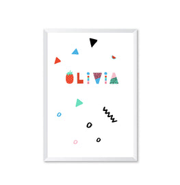 Personalised Abstract Name Patterned Poster Print-Print-Mode Prints