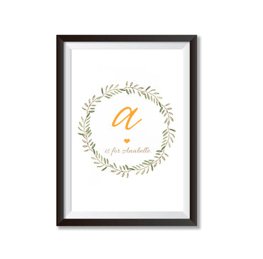 Personalised New Baby Name Print Poster Print-Print-Mode Prints