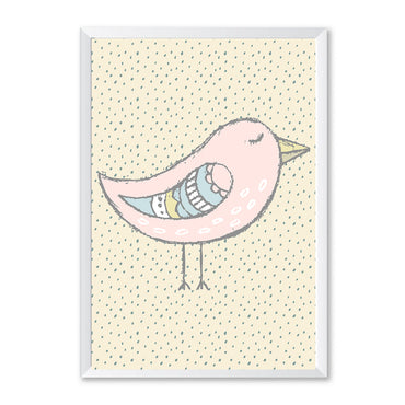 Pink Bird Polka Dot Poster Print-Print-Mode Prints