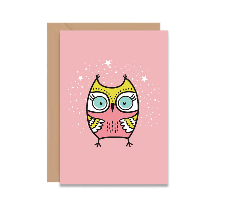 Christmas Owl Greeting Card - Mode Prints