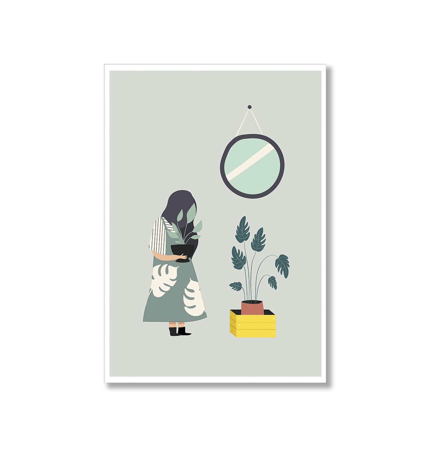 Plant Life Girl Monstera Poster Print-Print-Mode Prints