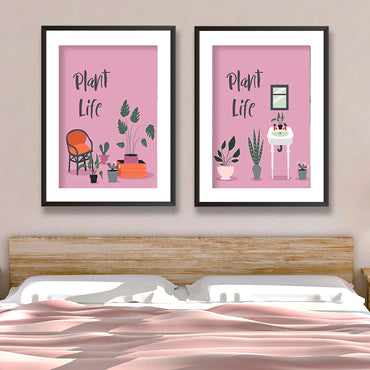 Plant Life Potted Plants Set Of Two Poster Print