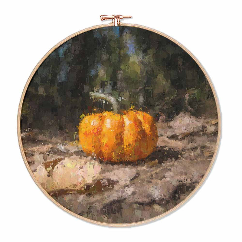 Watercolour Pumpkin Hoop