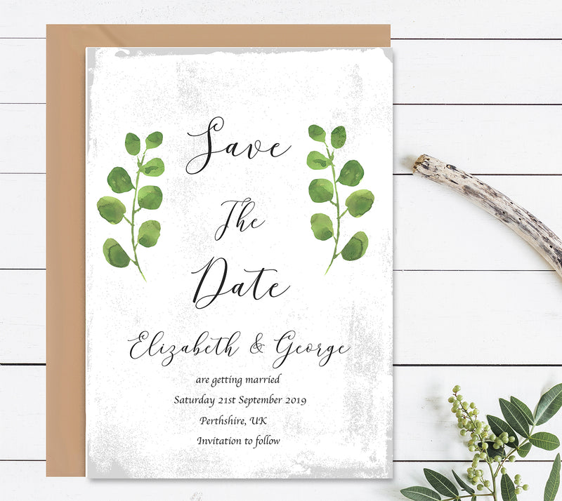 Rustic Garden Save The Dates Wedding Card - Mode Prints