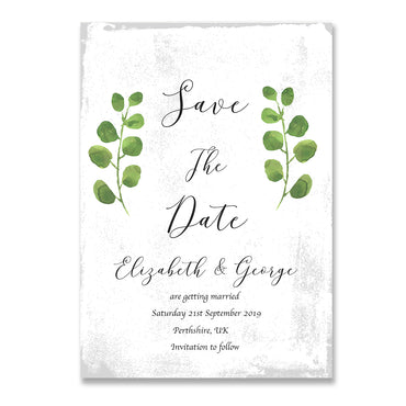 Rustic Garden Save The Dates Wedding Card-Wedding Stationary-Mode Prints