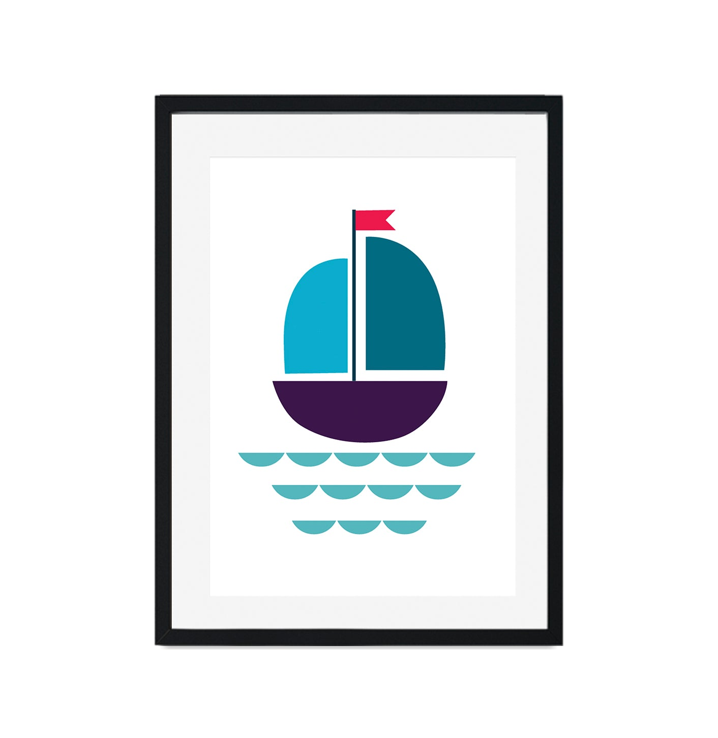 Sailing Boat Nautical Poster Print-Print-Mode Prints