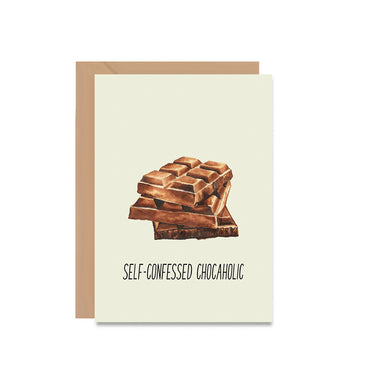 Self Confessed Chocaholic Greeting Card-Greeting Cards-Mode Prints