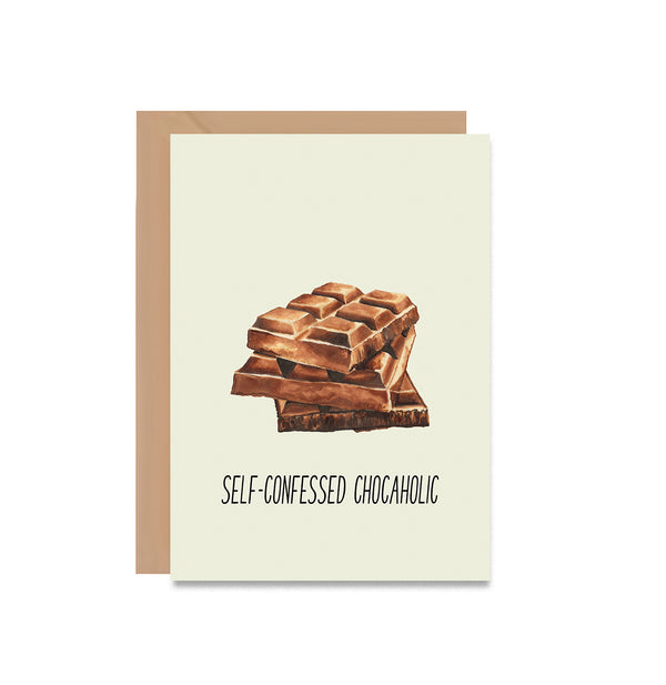 Self Confessed Chocaholic Greeting Card - Mode Prints