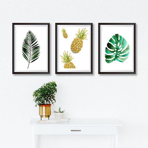 Set Of Three Watercolour Botanical Poster Prints - Mode Prints