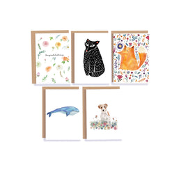 Illustrated Greeting Card Set - Mode Prints