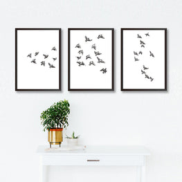Set Of Three Bird Poster Prints-Print-Mode Prints