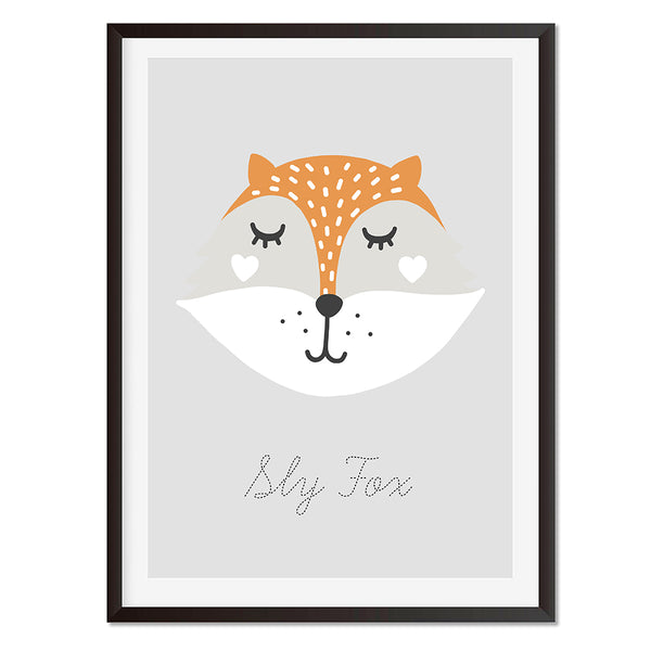 Sly Fox Wall Art Print