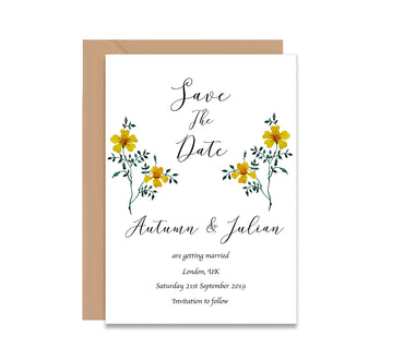 Spring Garden Save The Dates Wedding Card-Wedding Stationary-Mode Prints