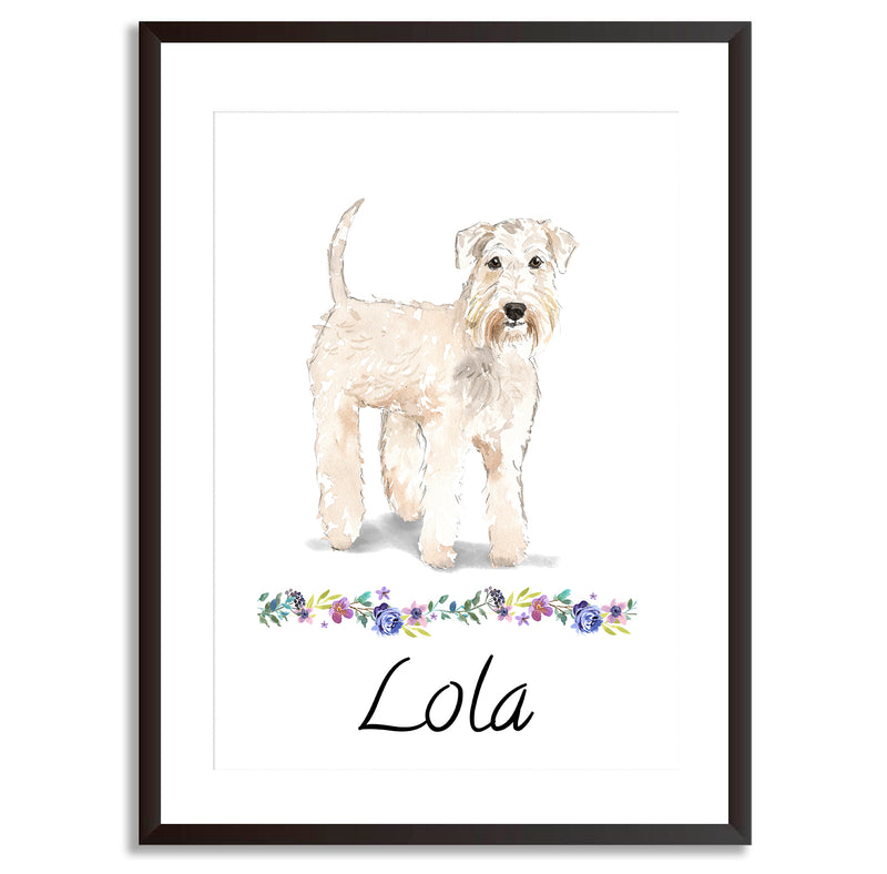 Personalised Wheaten Terrier Dog Art Print - Mode Prints
